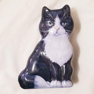 Tuxedo Cat Shaped Tin